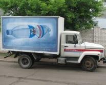 Брендирование грузовых автомобилей