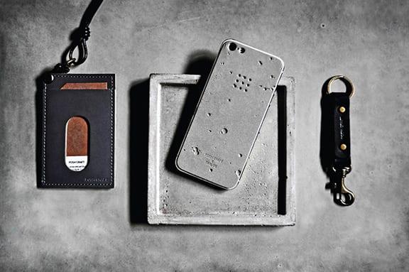 Корейский чехол для iPhone выполнен из бетона