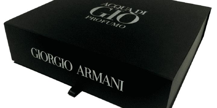 Разработка дизайна и производство пресс-кита для «Giorgio Armani»