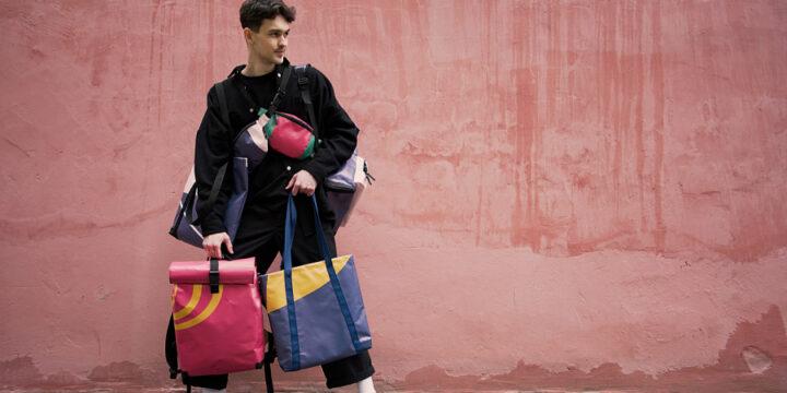 Епіцентр виготовив апсайклінг-сумки з банерів першої у світі zero waste виставки
