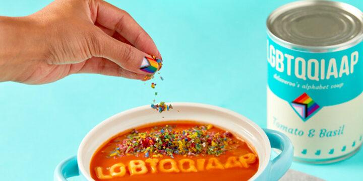 Deliveroo создала алфавитный суп в поддержку ЛГБТ+