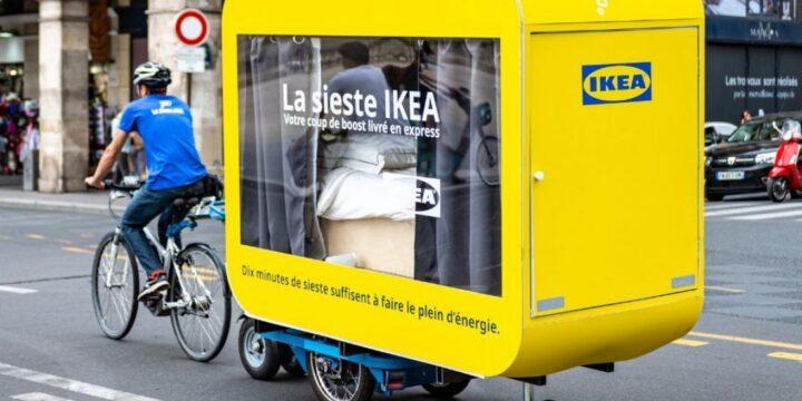IKEA у Парижі запустила проект La Sieste – електричні велосипеди, обладнані капсулами для сну